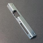 Long angled zinc-coated faceplate, DIN left