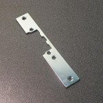 Short flat zinc-coated faceplate